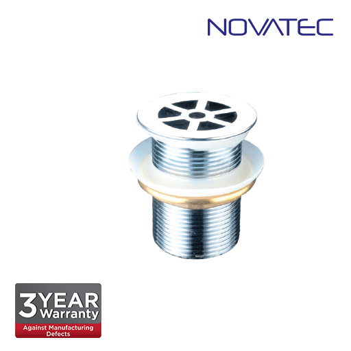 Novatec 38mm Brass Chromed Flow Waste Without Overflow Hole. A50