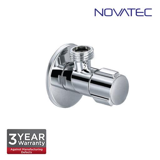 Novatec Chrome Plated Angle Valve With Wall Flange AV280