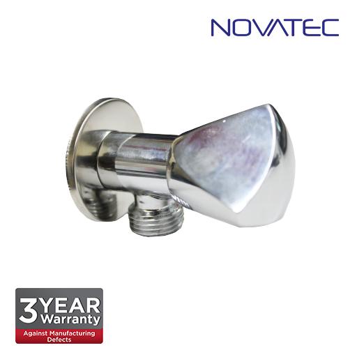 Novatec Chrome Plated Angle Valve With Wall Flange AV300
