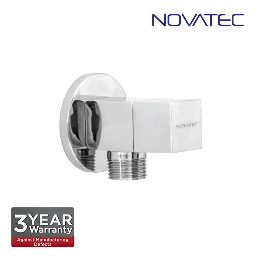 Novatec Chrome Plated Square Angle Valve With Wall Flange AV305