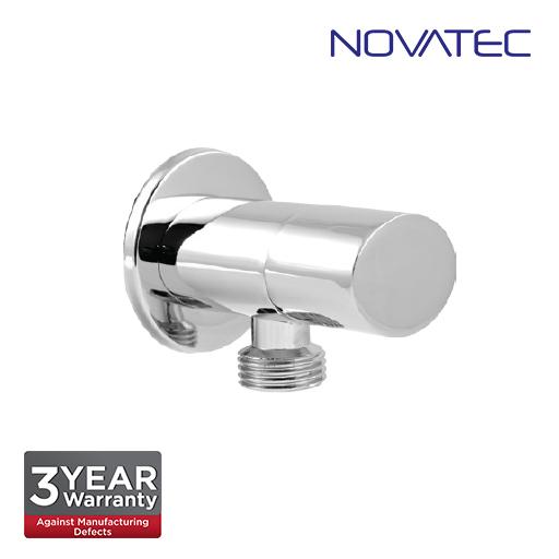 Novatec Chrome Plated Oval Angle Valve With Wall Flange AV810