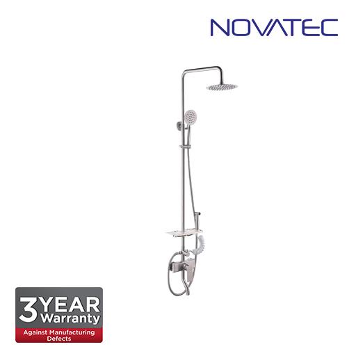 Novatec Fully stainless steel grade 304 satin finish shower post, 8
