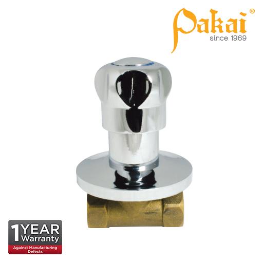 Pakai Crown Knob Handle Brass Quarter Turn Concealed Stop Valve CRW-SC