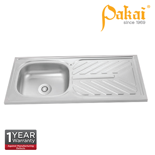 Pakai SUS201 Single Bowl Single Drainer(SBSD) Kitchen Sink DT-1060C