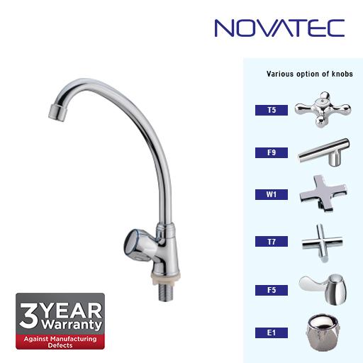 Novatec Kitchen Chrome Plated Pillar Sink Tap E1-1171