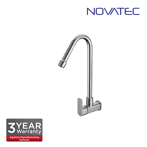 Novatec Quarter Turn Wall Sink Tap With Swivel Spout FA2124