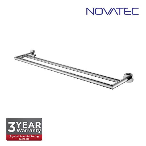 Novatec Chrome Plated Double Towel Rail NVB3304