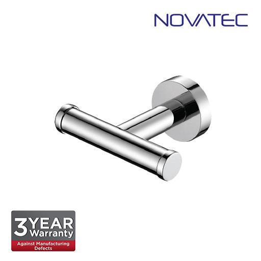 Novatec Chrome Plated Double Robe Hook NVB3310