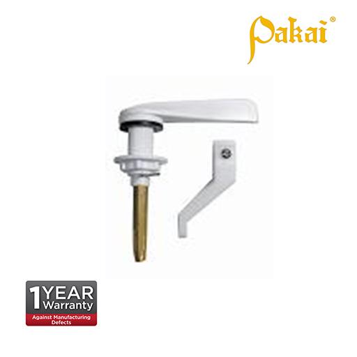 Pakai Inspire White Plastic Handle, Brass Rod F210