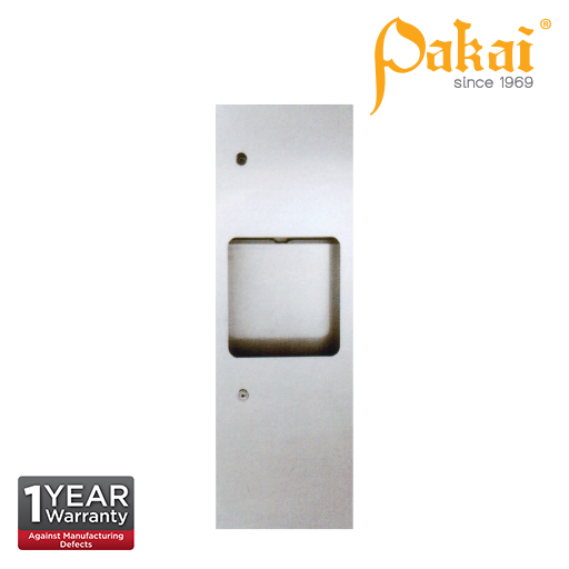 Pakai Recess Mounted Paper Dispenser with Waste Receptacles.