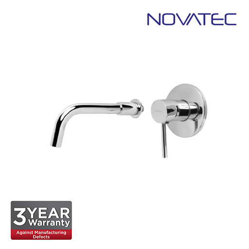 Novatec Chrome Plated Single Lever Concealed Basin Mixer With Spout RS5400