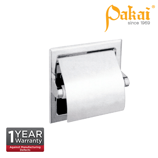Pakai Polished Stainless Steel Semi Recessed Paper Holder SS-TTD-S-RS