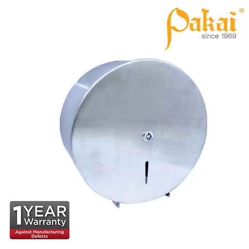 Pakai Stainless Steel Jumbo Roll Tissue Dispenser SSJRD-R01