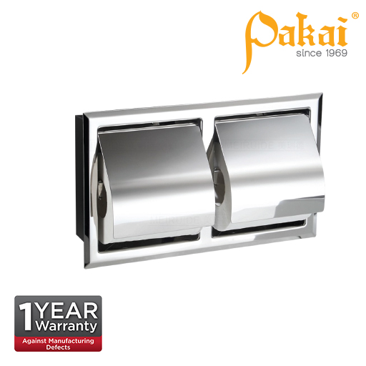 Pakai Concealed Polished Stainless Steel Double Paper Holder SSTPHA119
