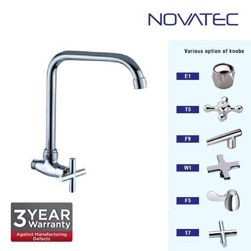 Novatec Kitchen Chrome Plated Wall Sink Tap E1-1151SQ
