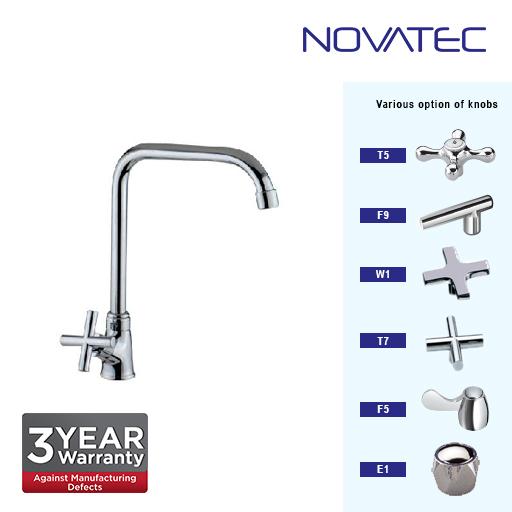 Novatec Chrome Plated Pillar Sink Tap T7-1171SQ