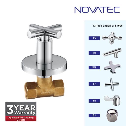 Novatec 3/4 Inch Concealed Full Turn Stopcock E1-1117B-FTD