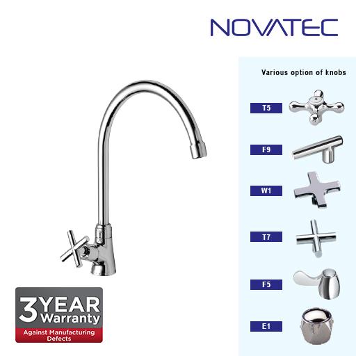 Novatec Chrome Plated Pillar Sink Tap T7-1171H