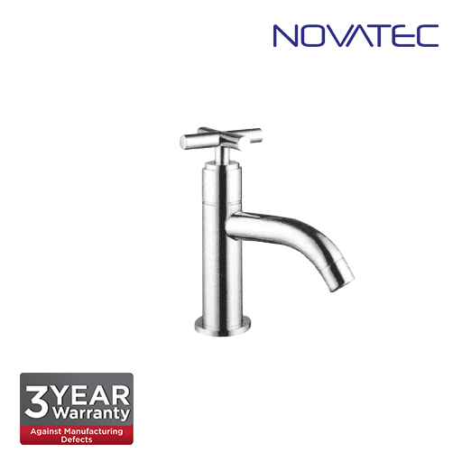 Novatec Chrome Plated Basin Pillar Tap T7-2034