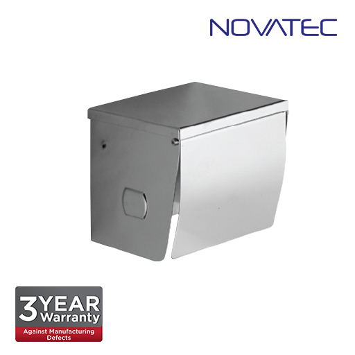 Novatec Stainless Steel Surface Mount Paper Holder With Shelf  TPH3911